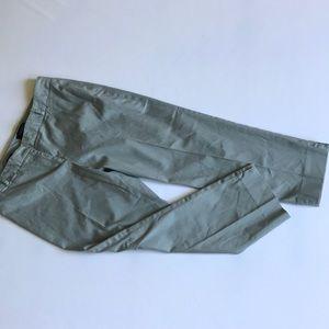 Talbots olive green ankle pants Sz 12